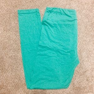 Solid TC Mint Green Heathered Lularoe Leggings